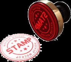 round rubber stamp